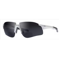 Nieuw: FL1-DW Bifocale fiets-, wandel-, zonne-bril met een wit stevig frame met donkere glazen