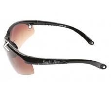 Eagle Five: Stijlvolle verbeterde bifocale Sport bril  (leesgedeelte op sterkte) met 3 sets glazen - ZWART frame!!