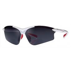 Witte G5 bifocale bril - de perfect (lees) sportbril voor iedereen met iets SMALLER gezicht, WIT frame  (leesgedeelte op sterkte) AANBIEDING