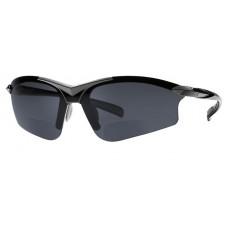 Zwarte G5 bifocale bril - de perfect (lees) sportbril voor iedereen met iets SMALLER gezicht, ZWART frame (leesgedeelte op sterkte) AANBIEDING